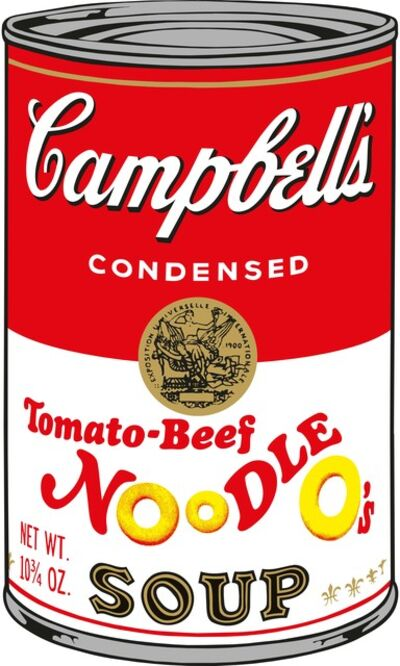 Sunday B. Morning, 'Soup Can (Tomato-Beef Noodle O's)', 2015