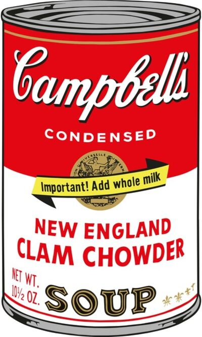 Sunday B. Morning, 'Soup Can (New England Clam Chowder)', 2015