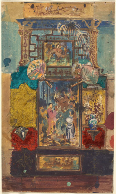Robert Caney, 'Stage Set Consisting Of Painted Panels, Fabrics, And Fans'