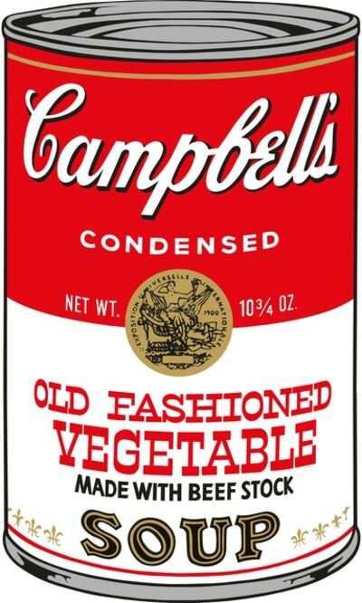 Sunday B. Morning, 'Soup Can (Old Fashioned Vegetable)', 2015