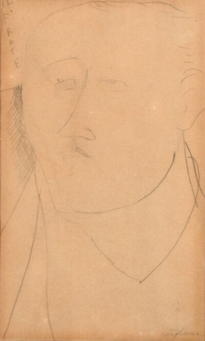 Amedeo Modigliani, 'Il Frate (The Monk) - Portrait of Paul Guillaume', 1914