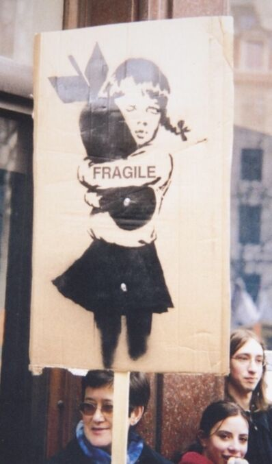 Banksy, 'FRAGILE Bomb Hugger (with provenance and photographs)', 2003