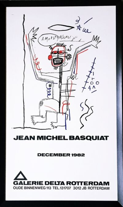 Jean-Michel Basquiat, 'Jean-Michel Basquiat (Extremely rare limited edition historic poster)', 1982