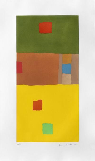 Etel Adnan, 'En Route vers le Desert', 2017