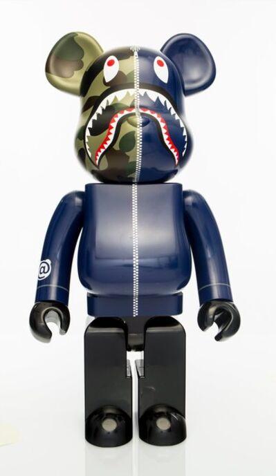 BE@RBRICK X BAPE, '1st Camo Shark 1000% (Navy)', 2017