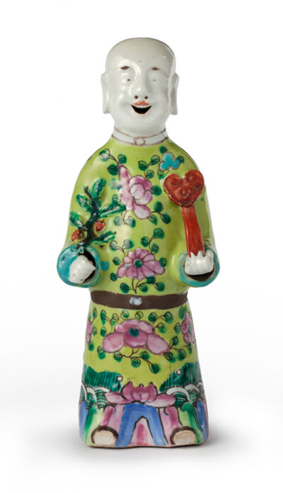 Porcelain, 'A Chinese figure of dignitary', 19th century