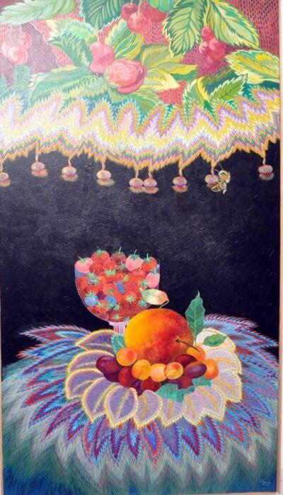 Daniele Akmen, 'Bol de fraises et Bourdon', 2002