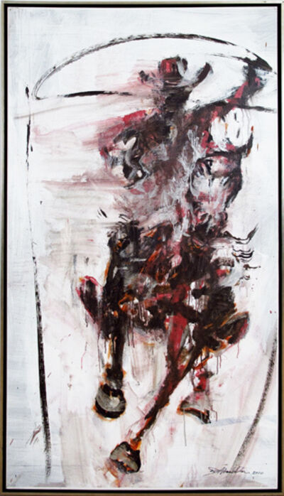 Richard Hambleton, 'Horse and Rider (Silver and red forward facing rodeo)  ', 2010