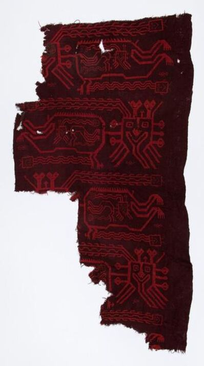 Andean artisan, 'Fragment of a Ceremonial Mantle ', 400 BCE-300 BCE