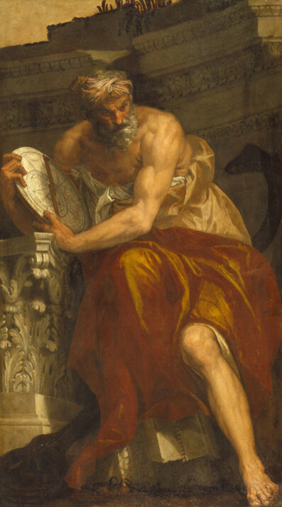 Paolo Veronese, 'Allegory of Navigation with an Astrolabe: Ptolemy', 1557
