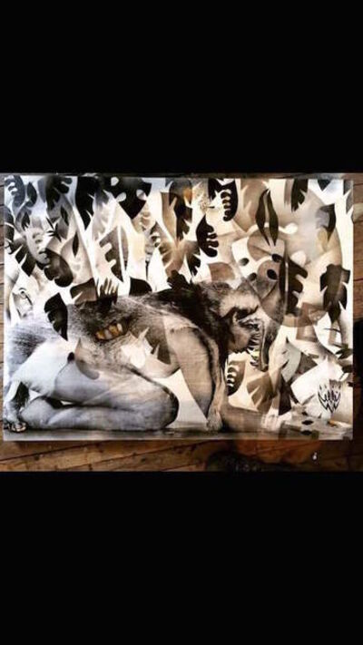 Elle, 'Coyote In Abstract Jungle', 2015