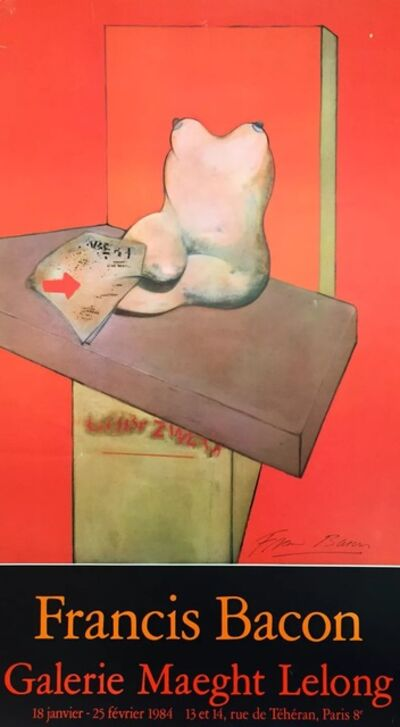 Francis Bacon, 'Signed Galerie Maeght Lelong Exhibition Poster', 1984