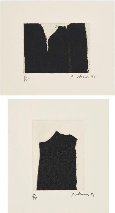 Richard Serra, 'Videy Afangar #4; and Videy Afangar #9', 1991