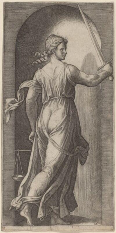 Marcantonio Raimondi after Raphael, 'Justice'
