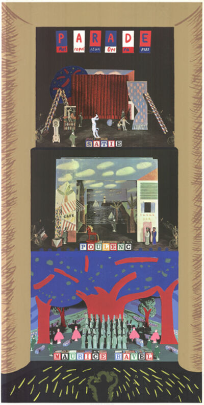 David Hockney, 'Parade- Metropolitan Opera', 1982