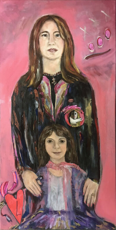 Lauralee Franco, 'Two hearts, Women's March ', 2017