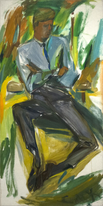 Elaine de Kooning, 'John F. Kennedy', 1963