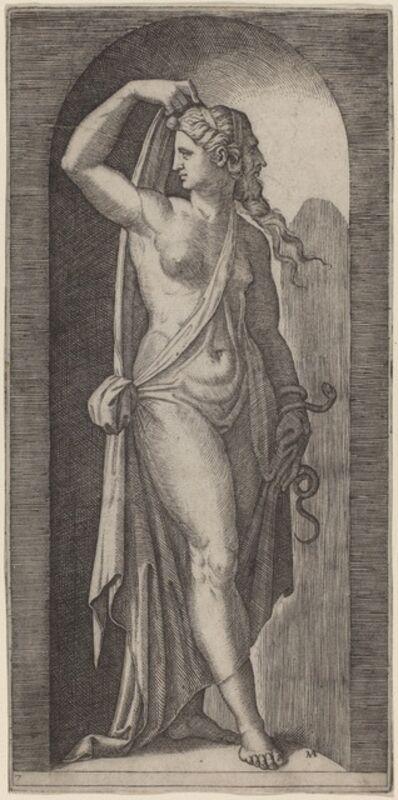 Marcantonio Raimondi after Raphael, 'Prudence'