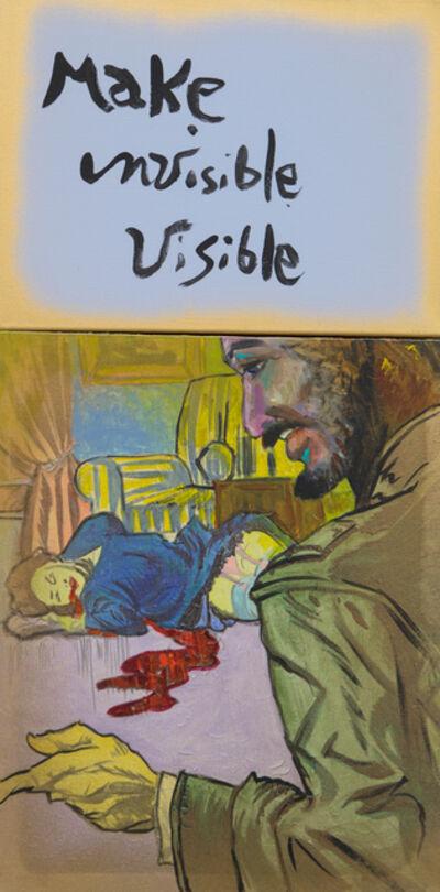 Archie Rand and Bob Holman, 'Make Invisible Visible', 2017