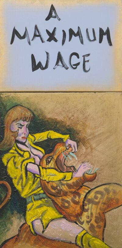 Archie Rand and Bob Holman, 'A Maximum Wage', 2017