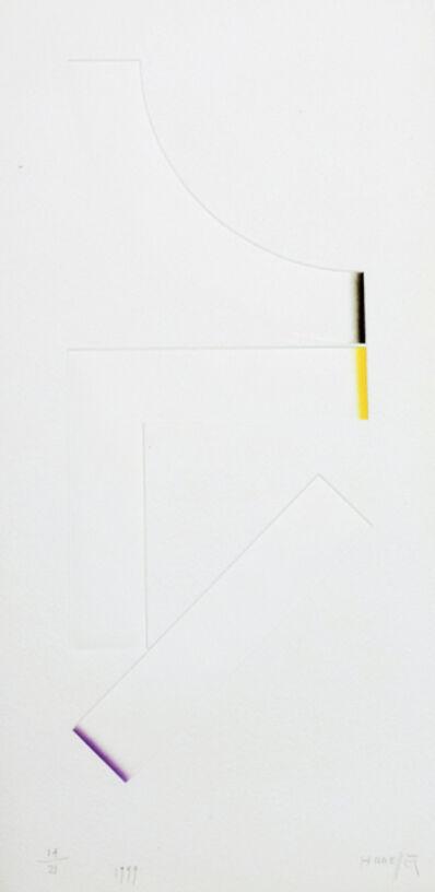 Gottfried Honegger, '3 Empreintes A ', 1999