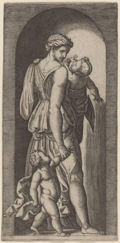 Marcantonio Raimondi after Raphael, 'Charity'