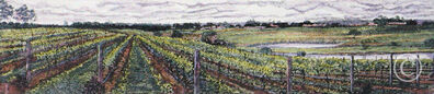 Barbara Bennett, 'Passing Clouds Over The Vines'