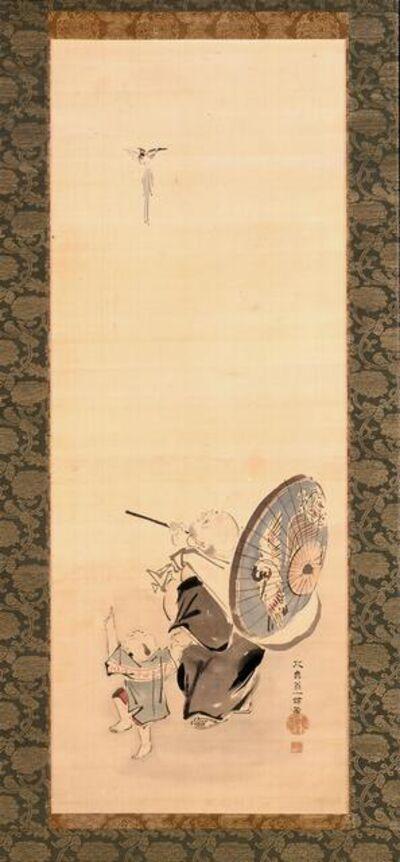 Hanabusa Itchō, 'Hotei and Child', 1652-1724