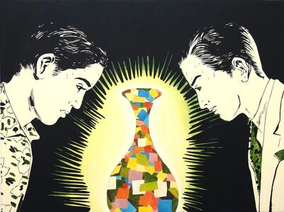 Viewers and A Mosaic Vase