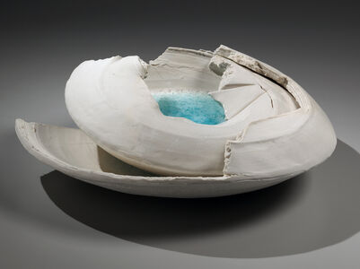 Hekiyū haban: Torn Vessel with Blue-green Glass