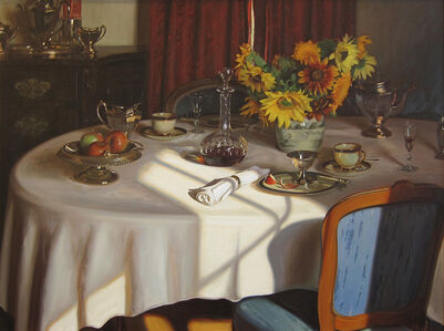 Tea, Sherry and Sunflowers