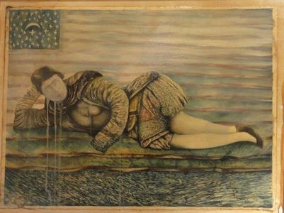 Qajar woman resting