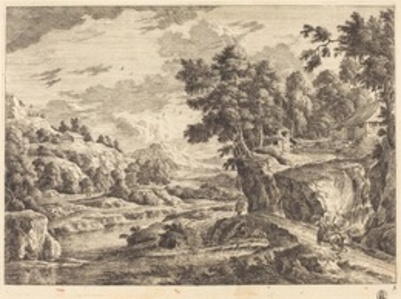 Landscape with a Bridge and Three Farm Buildings