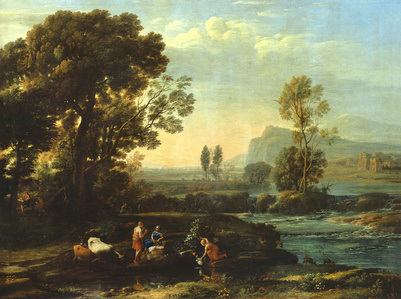 Landscape showing the flight to Egypt
