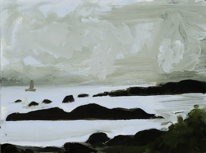 Study for Sky, Sailboat, Rocks and Sea #1