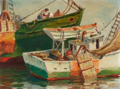 Getting Ready, Gloucester Fishing Boat