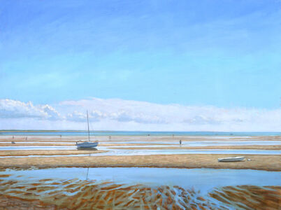 On the Flats at Low Tide