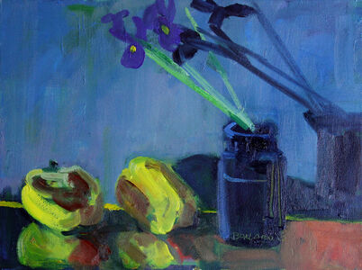Irises and Peppers