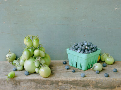 Green Tomatoes and Blueberries