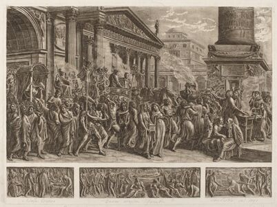 The Ashes of Trajan Carried in a Triumphal Procession