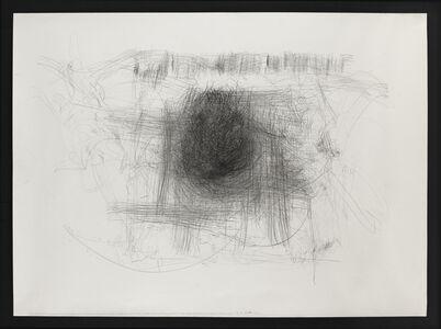 LIVE TRANSMISSION: movement of the hands of KASHIWAGI KUNIAKI, soba master, while preparing soba flour and cutting the noodles / Nippon International Performance Festival / Nagano, Japan / performance for this drawing, 2001.03.12