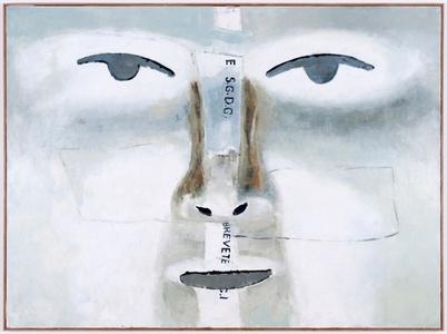 Grand détail du masque retourné