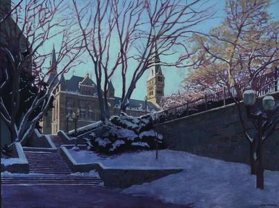 Lauinger Stairway, Georgetown University