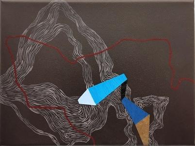 Blue direction line