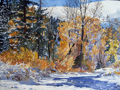 Winter River, Early Snow