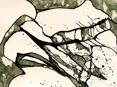 Black and White Cracked Ice I #21