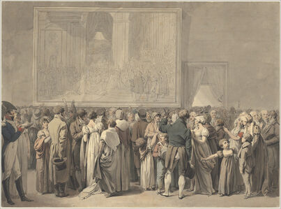 """The Public in the Salon of the Louvre, Viewing the Painting of the """"Sacre"""""""