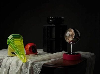 Still Life with Tape Rack and Clocks [AIBDC 37, CR, 17, Shelf 1 of 8, 2.7kg]