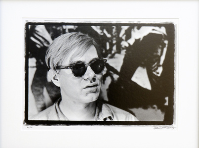 Close up of Andy Warhol