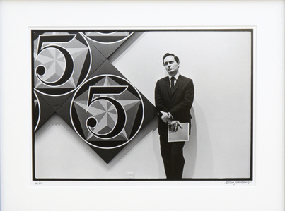 Robert Indiana with X-5